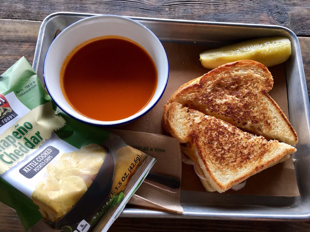 grilled cheese & tomato soup from Blackbelly