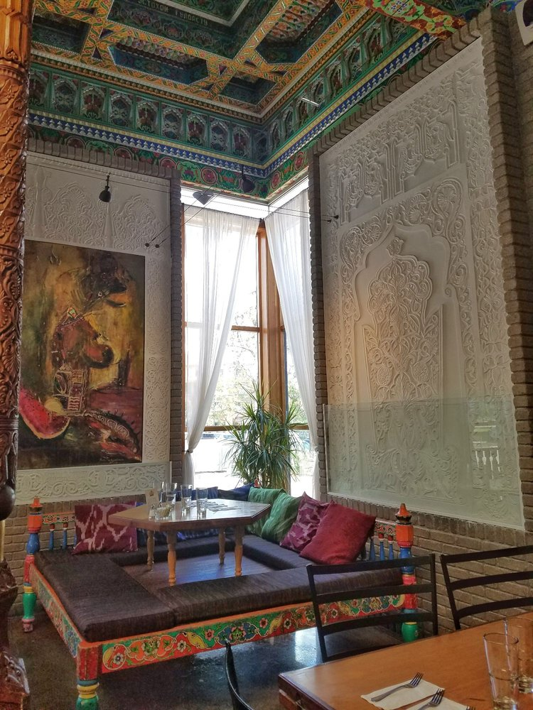 interior of boulder dushanbe teahouse - pic by Marina G on yelp